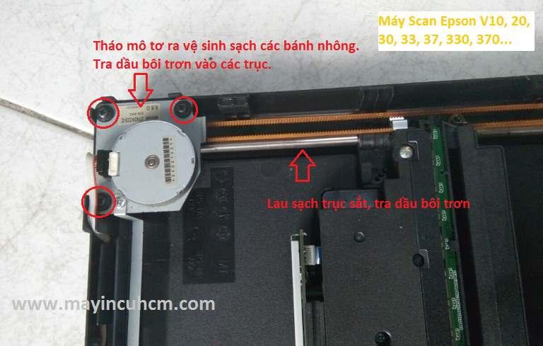 máy scan bị lỗi bộ phận cơ