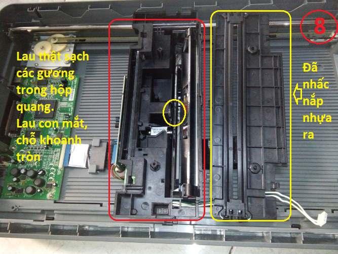 Sửa máy scan Hp G4010 bản scan bị mờ