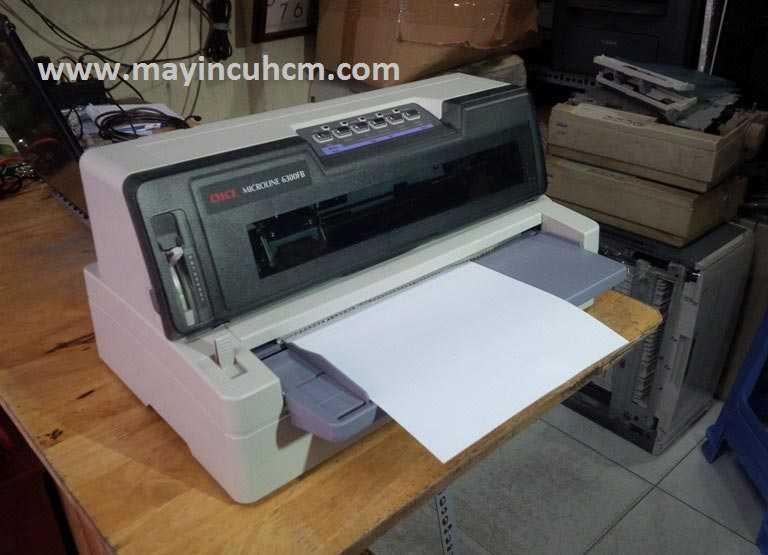Máy in kim Oki 6300fb cũ