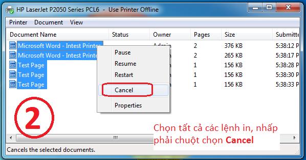 Cách xoá lệnh In bị lỗi trên máy tính Windows 7, 10