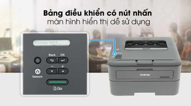 Cách Reset máy in Brother HL-2321D, HL-2361DN báo lỗi mực (Toner)