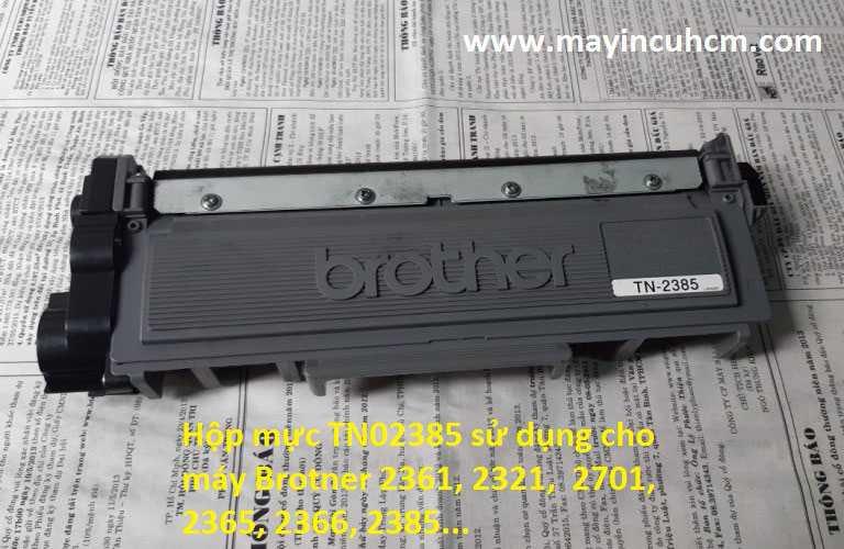 Các Reset hộp mực Brother TN 2385  bằng nhông